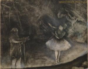 One of Degas' first Monotypes- Dark Field.