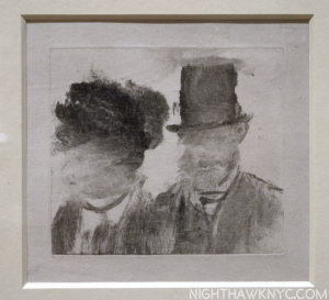 """One of the most puzzling and """"different"""" Degas I've yet seen. Monotype."""