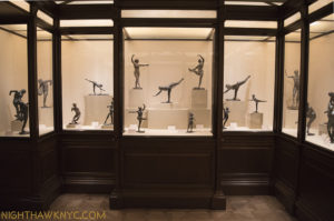 The Met's Degas Sculpture Room. Notice that every single work depicts balance & equilibrium.