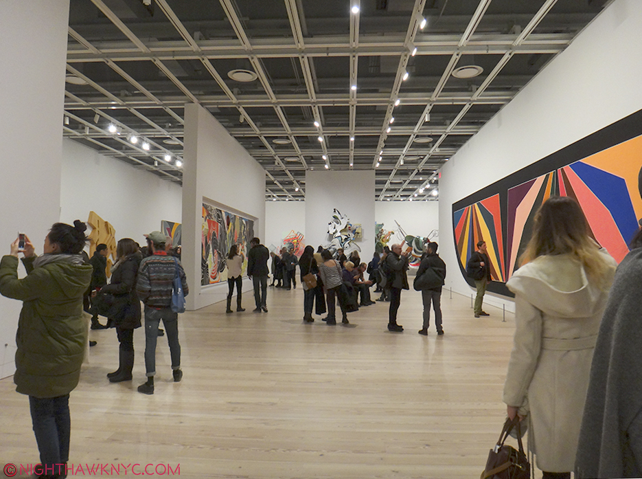 5th Floor seen during the Frank Stella Retrospective, Feb, 2016. The smaller walls can be moved to provide countless configuration possibilities.