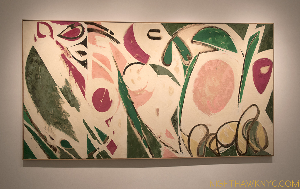 """Rose Red,"" 1958. Something of the feel of Matisse's recent Cut-outs."