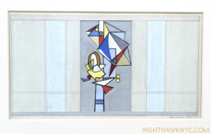 """Untitled"" (Study for a Mural), 1941. her cubist beginnings echo."