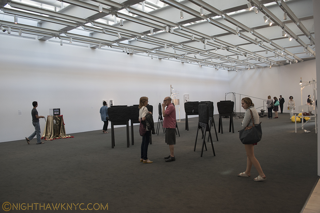 The 8th floor gallery lets in ambient sky light.