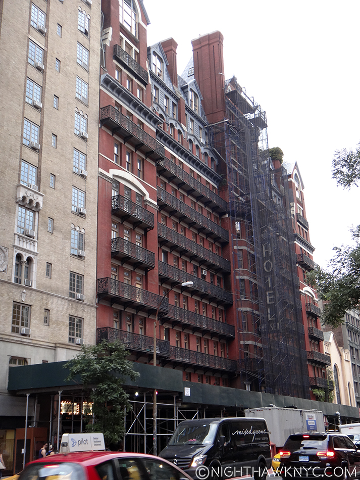 The Hotel Chelsea, this week. So much of my life these 25 years took place on this block, I feel it's part of my home.