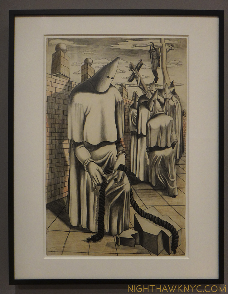 """Drawing for Conspirators,"" 1930, Whitney Museum"