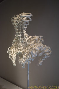 """My dear, your tailbone is showing."" Iris van Herpen, Dress, 2011-12, 3D printed white polyamide."