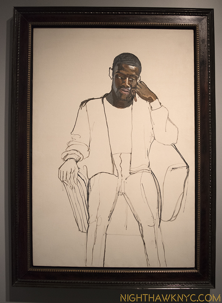"""James Hunter Black Draftee,"" 1965, by Alice Neel"