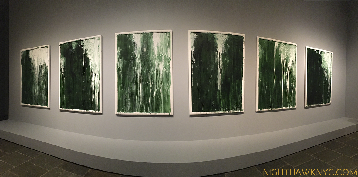 The Cy Twombly Gallery closes the show seen in panorama.