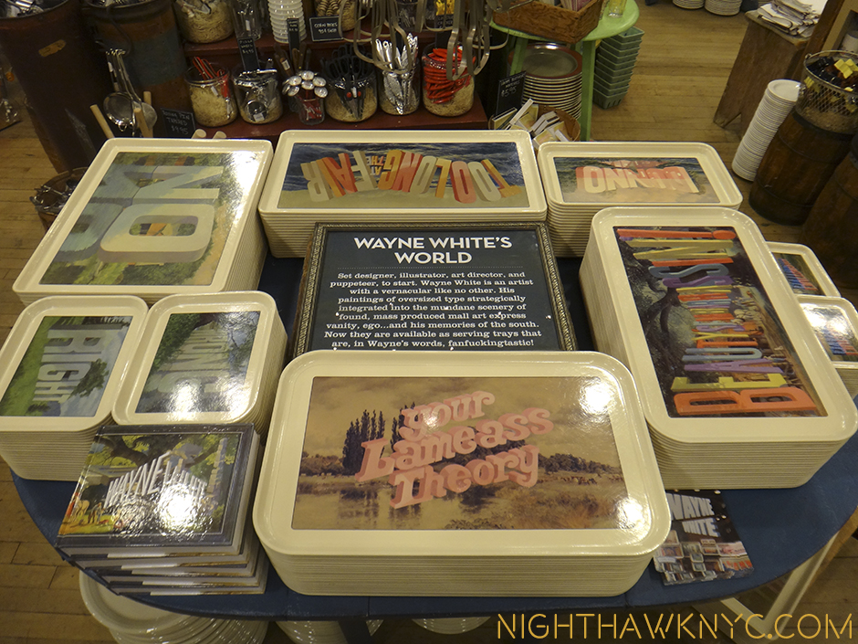 Wayne White Serving Trays in collaboration with Fishs Eddy, NYC