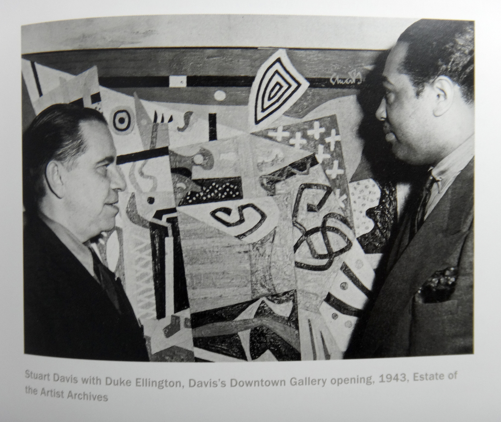 Stuart Davis with Duke Ellington, 1943, from the show's catalog.