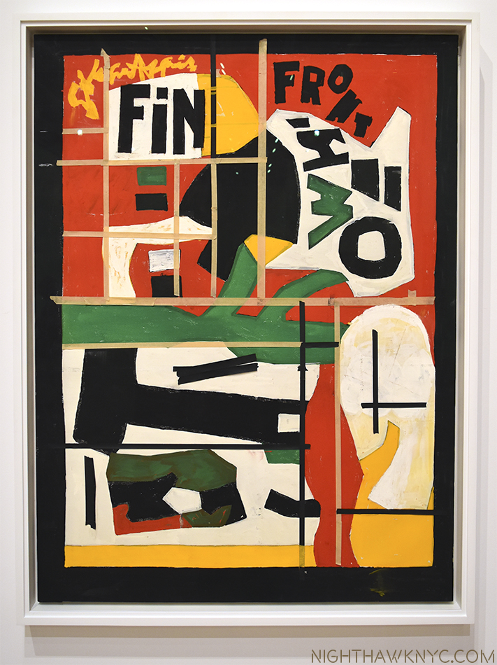 "The end. ""Fin,"" 1962-64, as it was left on his easel when he died."