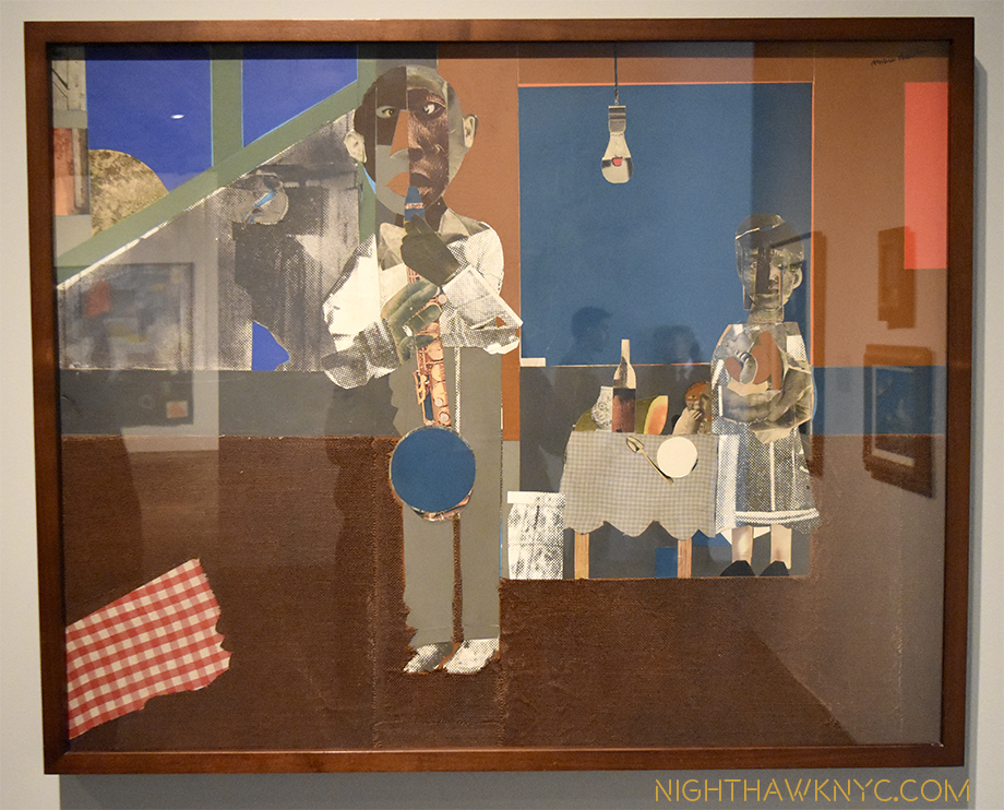 "Blue Note. ""The Woodshed,"" 1969, collage by Romare Bearden. The ""Woodshed,"" or ""Shed"" is where musicians hone their craft."