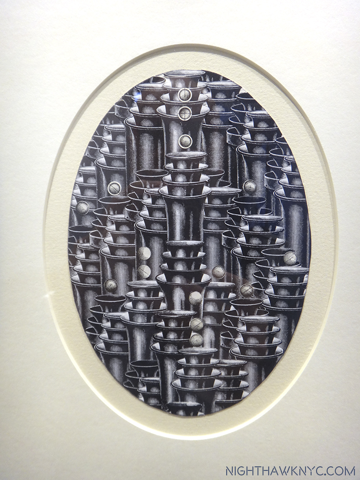 """Tocatta & Fugue,"" 1986, engraving collage"