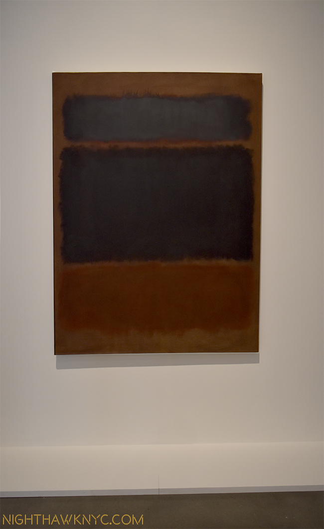 """Black in Deep Red,"" 1957. The day will come where these works will be as famous as Monet's are now, in my opinion."
