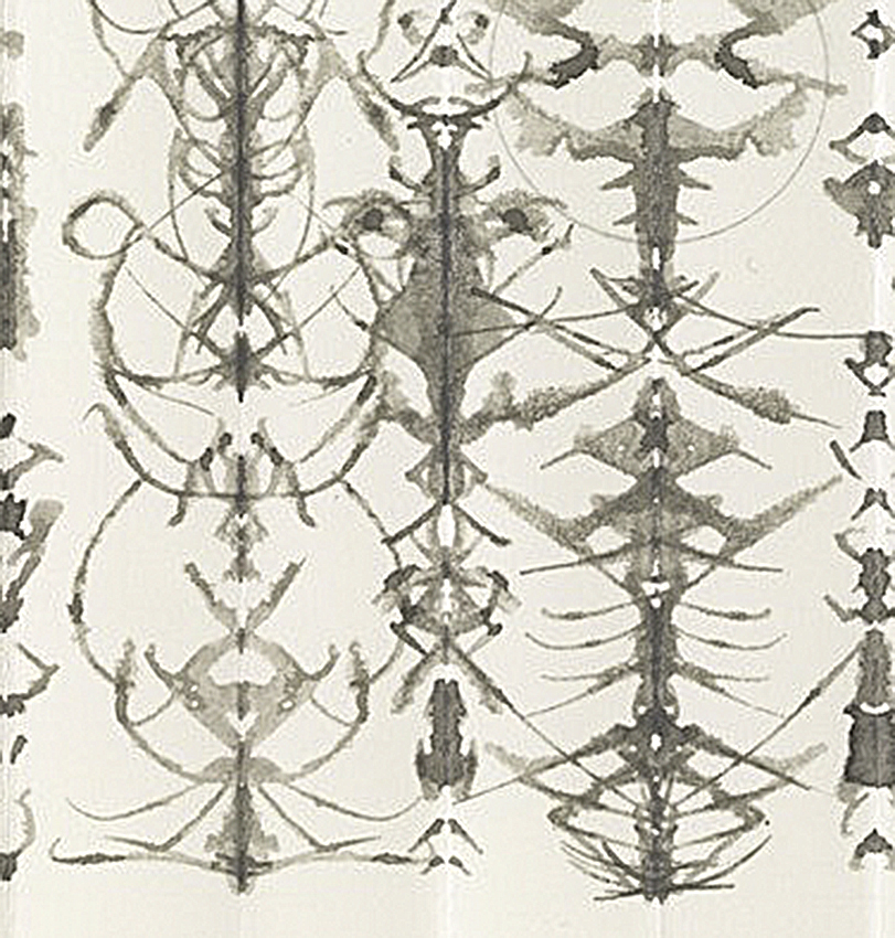 """Detail of """"INKBLOT DRAWING, August 17, 1991"""" seen above in full. Photo ©MoMA"""